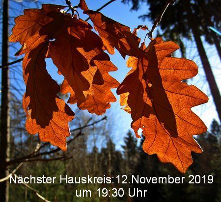 Hauskreis am 12.November um 19:30 Uhr
